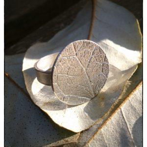 Anillo de plata hoja / Silver ring