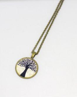 Colgante árbol de la vida pintado a mano