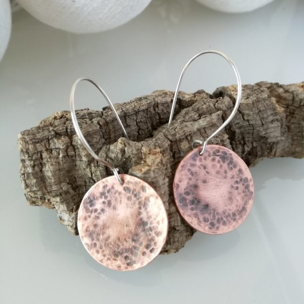 Pendientes de cobre y plata/Cooper and silver earrings