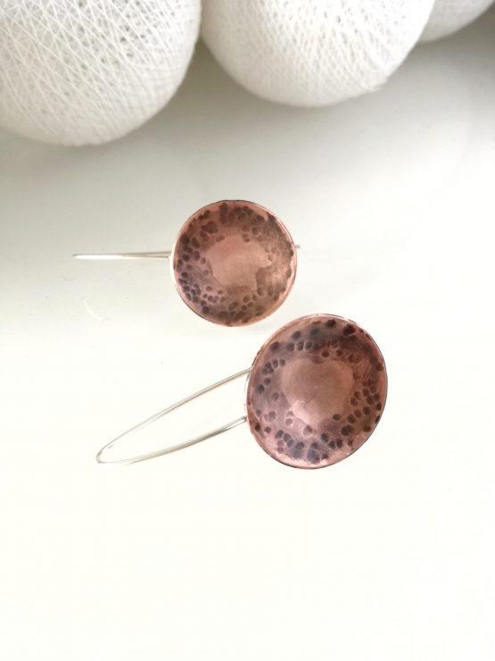 Pendientes de cobre y plata