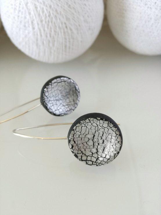 Pendientes arcilla polimerica y plata
