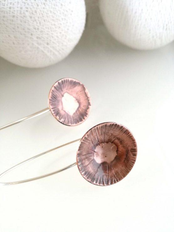 Pendientes de cobre