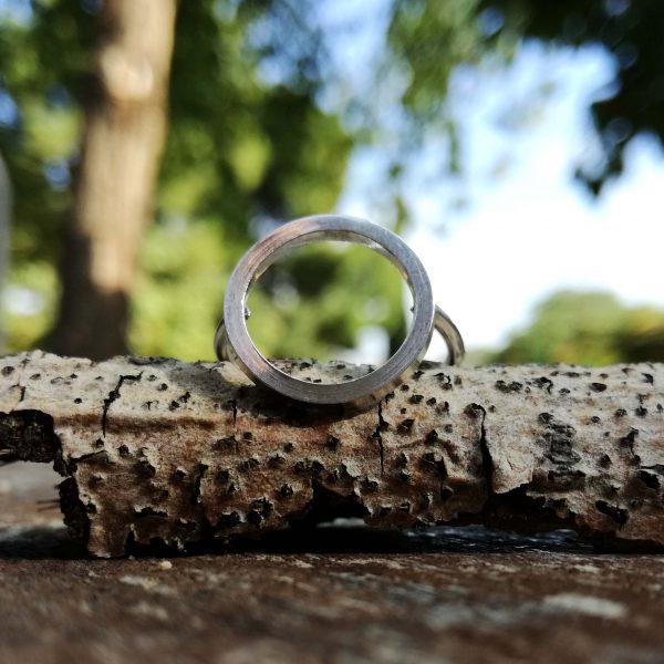 Anillo de plata círculo