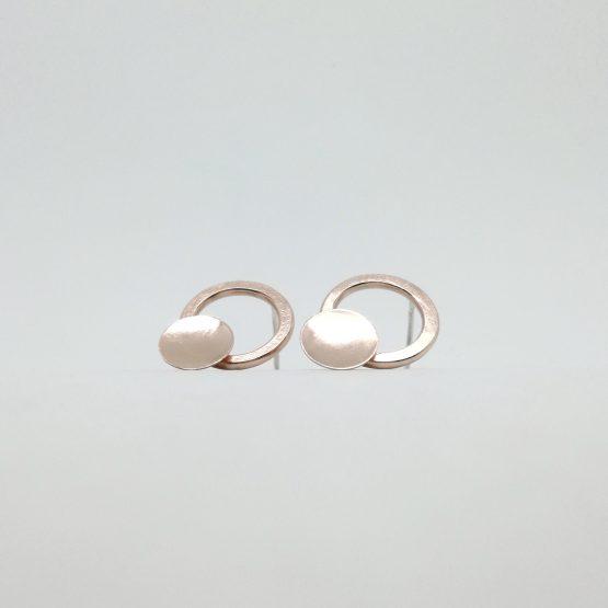 Pendientes de cobre circulares