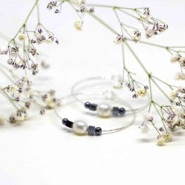 Aros de plata y perla